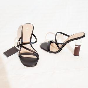 NWT Zara Strappy Slide On Sandals